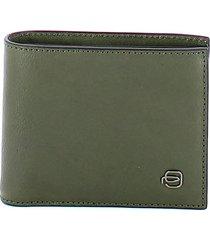 piquadro mens green wallet