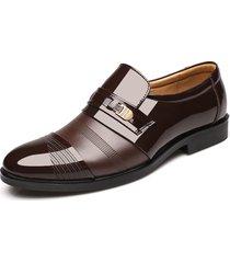uomo scarpe oxford slip-on di stile formale business a punta