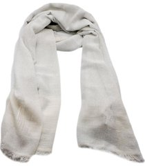 fabiana filippi cotton blend scarf with lurex threads and fringes