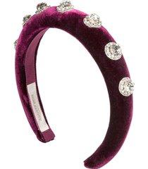 jennifer behr crystal-embellished headband - purple