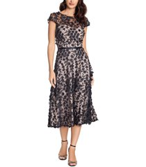 xscape floral-lace midi dress
