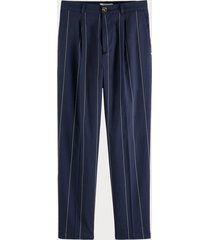 scotch & soda striped linen blend trousers relaxed fit