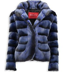 made for generations premium mink fur moto jacket