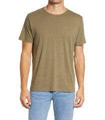 men's rag & bone classic air men's linen blend t-shirt, size large - green