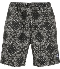 department 5 all-over print shorts - black