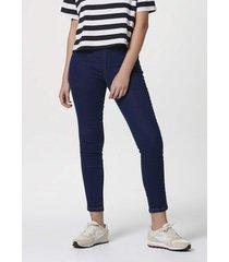 calça hering jeans modelagem jegging com elastano azul
