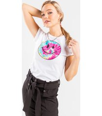 smiley tie-dye tee - white