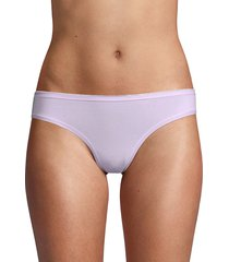 ava & aiden women's low-rise bikini briefs - medium grey - size m