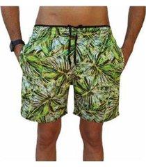 bermuda short florida moda praia relaxado estampado masculina