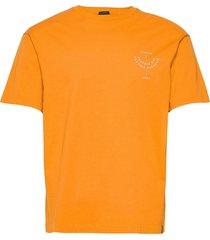 organic cotton-jersey crewneck t-shirt with chest artwork t-shirts short-sleeved gul scotch & soda