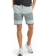 men's vuori banks performance shorts, size large - blue/green