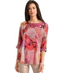 blouse amy vermont roze::offwhite::oranje