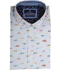 basefield overhemd multicolor met print 219015189/605