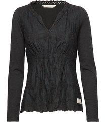 leaving happier top t-shirts & tops long-sleeved zwart odd molly