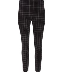 pantalón para mujer cigarette cuadros color negro, talla 12