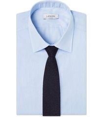cravatta su misura, lanificio ermenegildo zegna, lana occhio di pernice blu, quattro stagioni | lanieri