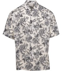 laneus floral slouchy shirt