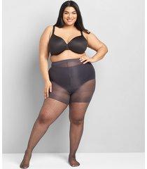 lane bryant women's smoothing tights - diamond dot e-f off black