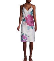 floral satin slip dress