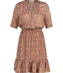 jurk met bloemenprint emily  oranje
