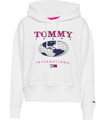 tjw outdoor logo hoodie hoodie vit tommy jeans
