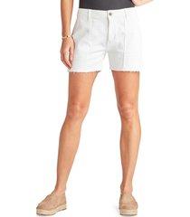 women's sam edelman the cargo cotton blend utility shorts, size 24 - white