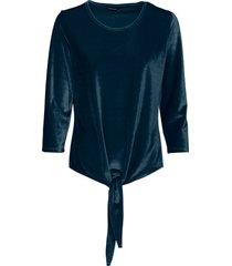maglia in velluto con nodo (petrolio) - bodyflirt