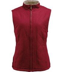 wolverine women's belmont vest cardinal, size l