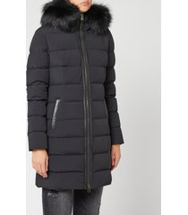 mackage women's calla matte padded parka - black - xl