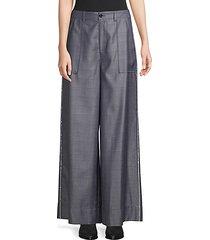 merkel silk & wool wide leg trousers