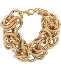 alberta ferretti oversized chain link bracelet - gold