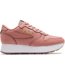 zapatilla rosa fila f-euro jogger wedge