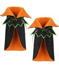 national tree company wine bottle halloween bat cape cover - set of 2
