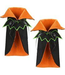 national tree company wine bottle halloween bat cape cover - set of 2