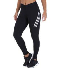 calça legging adidas alphaskin sport lt 3s - feminina - preto/branco
