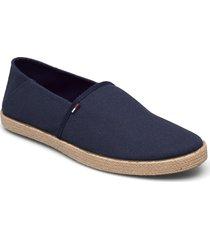 tommy jeans essential espadrille espadriller skor blå tommy hilfiger