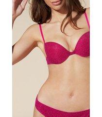 calzedonia federica push-up bikini top woman pink size 5