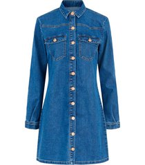 jeansklänning pcperry l/s denim dress