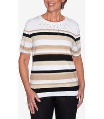 plus size classics stripe sweater