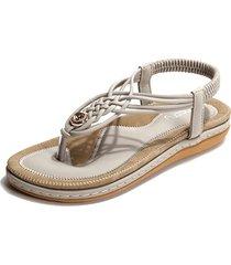 socofy sandali bassi con elastico a clip toe