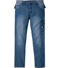jeans cargo in denim robusto (blu) - bpc bonprix collection