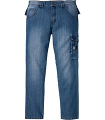 jeans cargo in denim robusto (blu) - bpc bonprix collection