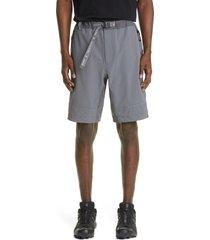 men's and wander water repellent trek shorts, size 6 - grey