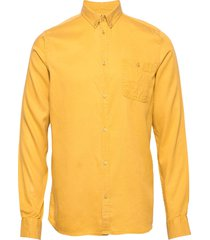 laurent tencel shirt overhemd casual geel les deux