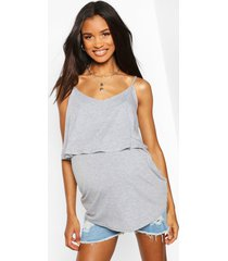 maternity nursing swing cami top, grey marl