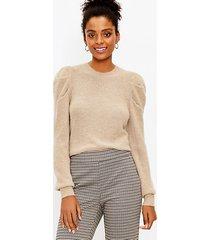 loft pleated sleeve sweater