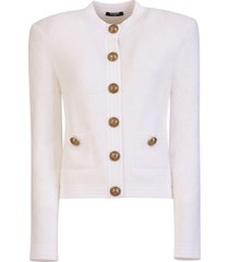 balmain button cardigan