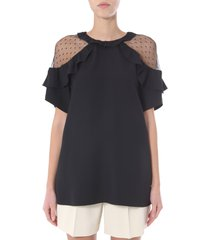 red valentino blouse with rouches
