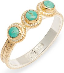 women's anna beck turquoise stacking ring