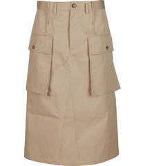 maison margiela beige cotton skirt
